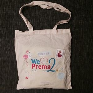 we love prema 2 tote bag