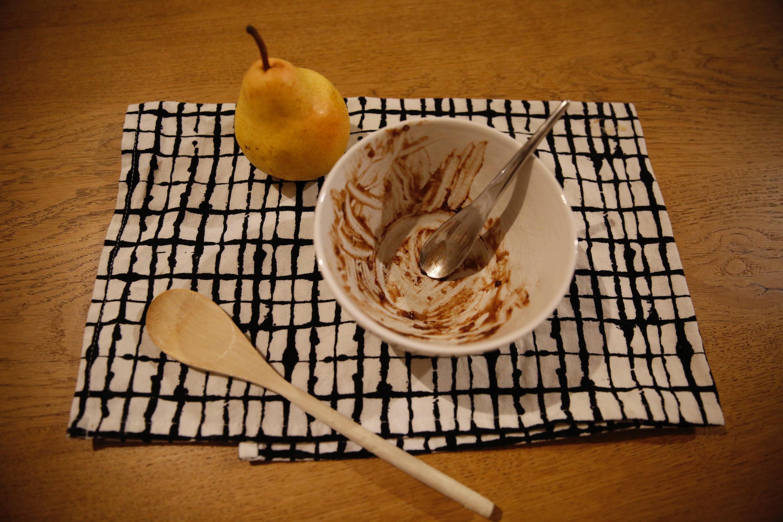 poire chocolat chataigne crumble